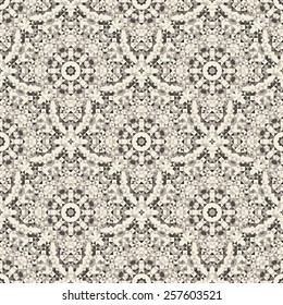 Abstract Seamless Black and White Color Geometric Vector Pattern. Vintage Wallpaper Background. Mosaic Texture for Textile Print