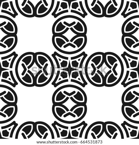 Abstract Seamless Black And White Color Pattern For Wallpapers Backgrounds Vector Template Can Be