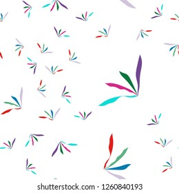 Abstract Seamless Bright Pattern of grass multi-colors. Vector. Elements are not cropped. Pattern under the mask. Perfect design for textile, box, posters, cards, brochures, etc.