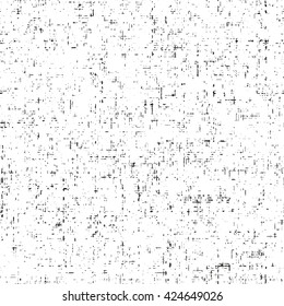 Abstract seamless crackle texture. Grid of black shabby on white background. Vector craquelure. Grunge cracked template. EPS10.