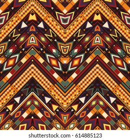 Abstract seamless ethnic pattern, vector wallpaper