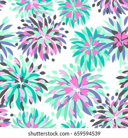 Abstract seamless floral pattern. cute girlish repeated backdrop. decorative flowers wallpaper for girls ,textile, clothes, wrapping paper.