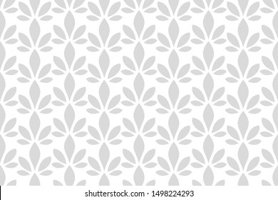 Abstract seamless floral pattern. ornament fabric, wallpaper, packaging. white and grey decorative vector background.