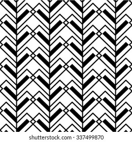 Abstract seamless geometric monochrome diagonal pattern. Vector texture background.