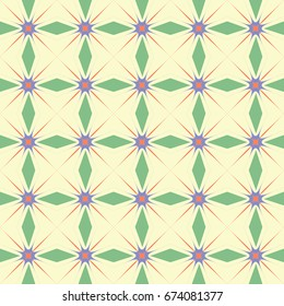 Abstract seamless geometric pattern.