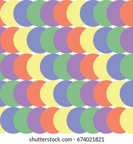 Abstract seamless geometric pattern. Colored rounds.
