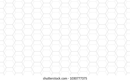 Abstract seamless geometric pattern. Grid hexagonal texture. Black and white vector background.