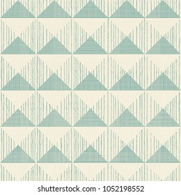 Abstract seamless geometric pattern on texture background in turquoise and beige. Endless pattern can be used for ceramic tile, wallpaper, linoleum, textile, web page background.