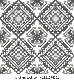 Abstract seamless geometric pattern. Optical illusion of image depth.