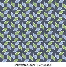 Abstract  seamless geometric pattern with semicircles and quadrants