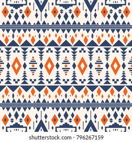 Abstract seamless geometric pattern with variety of shapes in aztec - mayan style for textile, corporate brochure or technology identity design, online presentation, website element, and illustration