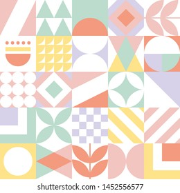 Abstract seamless geometric pattern. Vector colorful tile background.