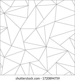 Abstract Seamless Geometric Polygon Pattern