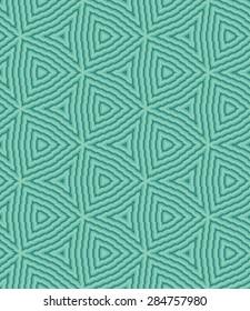 Abstract seamless geometric triangle pattern of caribbean green color
