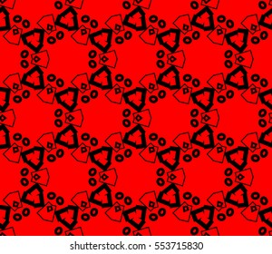 abstract seamless geometries pattern. Red color. for wallpaper. design page fill. Vector illustration