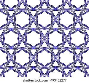 abstract seamless geometry style vector pattern. blue gradient