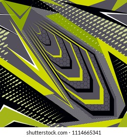 Abstract seamless graphic vector covers pattern with vertical fading lines, tracks, halftone stripes. Extreme sport style illustration. Racing background for vinyl wrap and decal. Grunge, neon texture