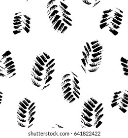 Abstract seamless hand drawn pattern. Monochrome brush painted background.Modern grunge texture.