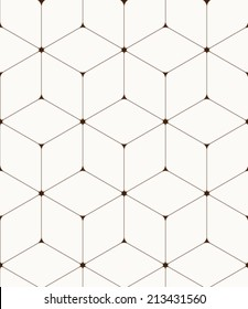 Abstract seamless hexagon pattern