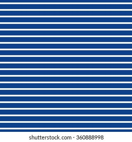 Abstract Seamless Horizontal striped pattern with navy blue and white stripes. Vector illustration