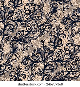 Abstract seamless lace pattern with flowers. Infinitely wallpaper, decoration for your design, lingerie and jewelry. Your invitation cards, wallpaper, and more.