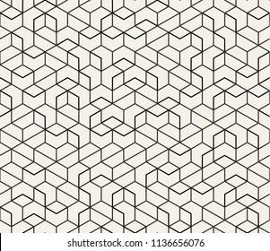 Abstract Seamless Lattice Pattern. Modern / Vintage Fashion Stylish Repeating Geometric Grid. Simple Design Background. Vector Illustration.