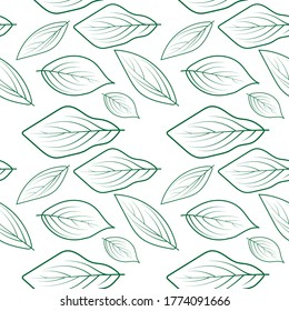 abstract seamless leaf pattern design vector template for t-shart, background, and textile