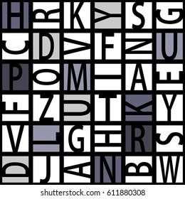 Abstract seamless letters pattern.