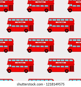 Abstract seamless london pattern for girls or boys. Creative vector background with bus, england, london. Funny pattern for textile and fabric. Fashion england style. Colorful bright picture