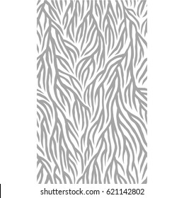 Abstract seamless nature pattern. Root-like structure. Striped lines with rough edges