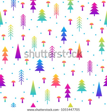 Abstract Seamless Pattern Background Modern Futuristic Stock Vector