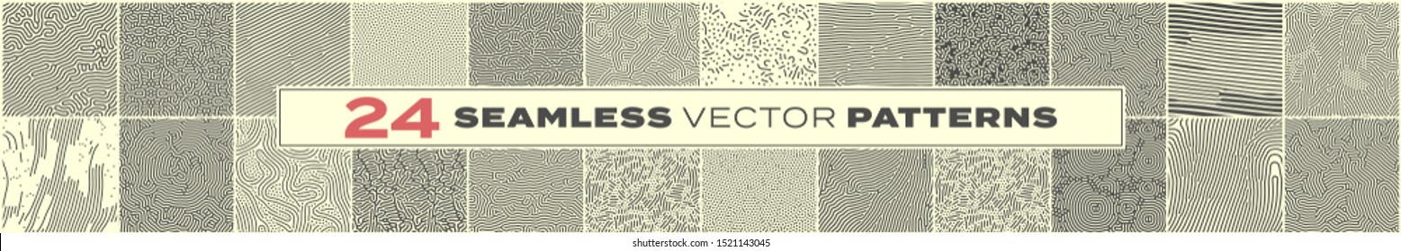 Abstract seamless pattern backgrounds, vector memphis liens and dots texture. Trendy modern organic shape doodle lines pattern with irregular shapes texture