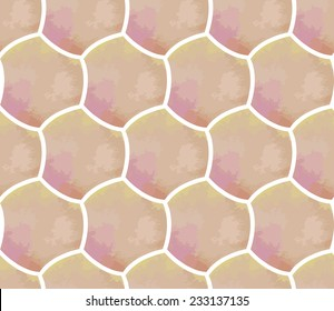 Abstract seamless pattern based on geometric shapes. Watercolor paint. Nature theme.Can be used as decoration for the gift boxes, wallpapers, backgrounds, web sites.
