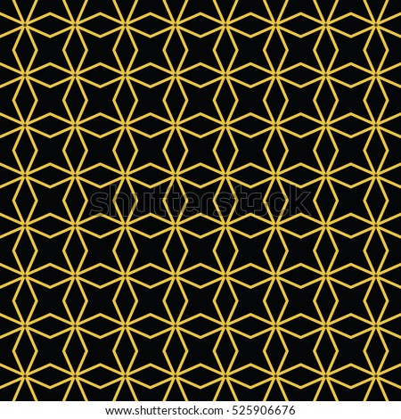Abstract Seamless Pattern Black Gold Color Stock Vektorgrafik