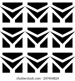 Abstract seamless pattern in black and white.