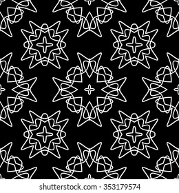 abstract seamless pattern ,black and white Vector seamless pattern. Seamless background pattern. Modern stylish texture. Repeating geometric.