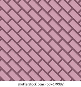 Abstract seamless pattern in bricks. Ligth background with stripes and squeres. Vector in pink and maroon colors.