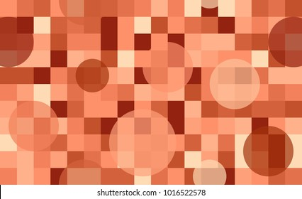Abstract seamless pattern of circles and squares