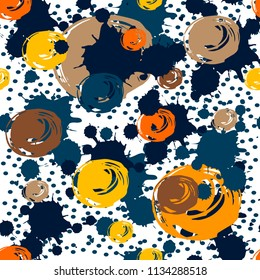 Abstract seamless pattern with dot, spot