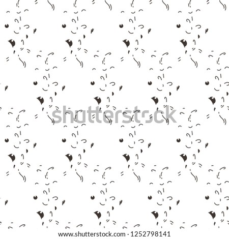 Abstract Seamless Pattern With Dots Lines And Emoji Nice For Prints Cards