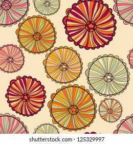 Abstract seamless pattern with fancy decorative elements