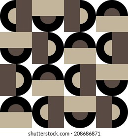 Abstract seamless pattern of geometric figures