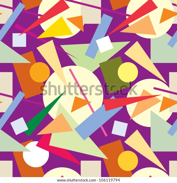 abstract seamless pattern from geometric figures
