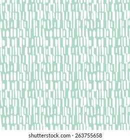 Abstract seamless pattern with graphic brushstrokes lines. Hand painted dynamic vector background in pastel green and white colors. Motion, stream, rain drops, leaves, tea, strokes and grasses pattern