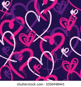 Abstract seamless pattern with hearts. Pattern for textiles, fabrics, clothes, web, wrapping paper, backpack, wallpaper, bedding.