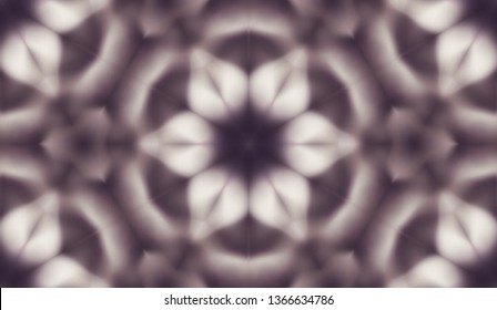Abstract seamless pattern with kaleidoscope. Symmetric patterns of reflections of figures.