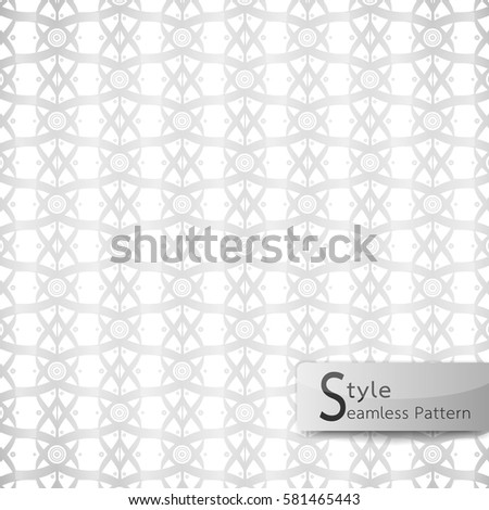 Abstract Seamless Pattern Lattice Lotus Flower Stock Vector Royalty