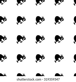 Abstract seamless pattern made of funny cartoon monsters.