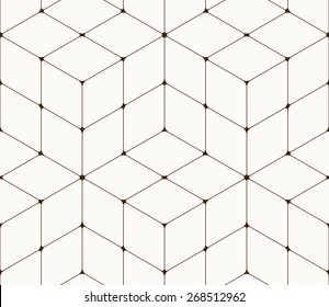 Abstract seamless pattern made from squares