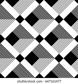 Abstract seamless pattern. Modern stylish texture geometric background with line, polygon, square